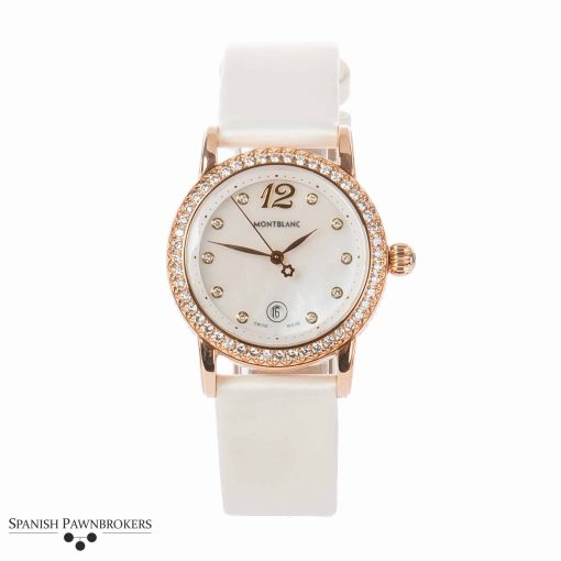 Montblanc star gold collection 101630 ladies watch made of 18-carat rose gold with diamond bezel