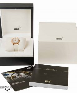 Montblanc star gold collection 101630 ladies watch made of 18-carat rose gold with diamond bezel with box and papers