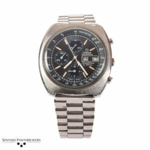 Pre-owned vintage Omega Speedsonic F300 Hz 188.0002 gents watch with stainless steel bracelet