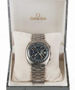Pre-owned vintage Omega Speedsonic F300 Hz 188.0002 gents watch with stainless steel bracelet with box