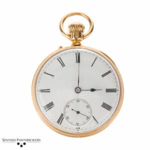 Pre-owned vintage Patek Philippe Open face pocket watch made of 18-carat yellow gold