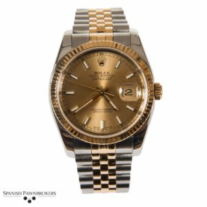 pre-owned rolex datejust 36mm oyster 116233 gents watch made of stainless steel and 18-carat yellow gold