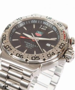 pre-owned tag heuer formula 1 alarm wac111a watch made of stainless steel