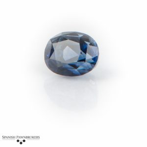 Loose Blue Ceylon Sapphire Sri Lanka Oval faceted certificated GCS unheated 8.89 carats