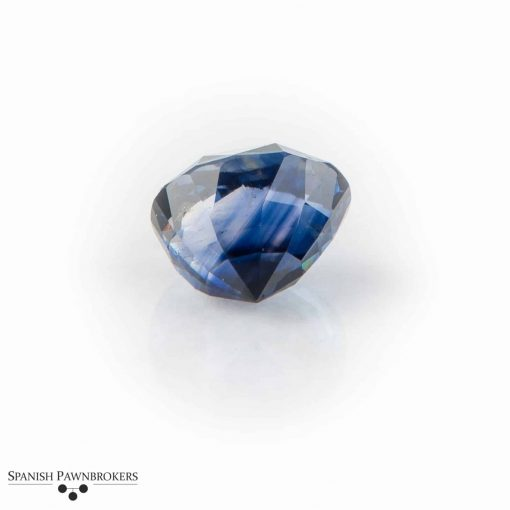 Loose Blue Ceylon Sapphire Sri Lanka Oval faceted certificated GCS unheated 8.89 carats
