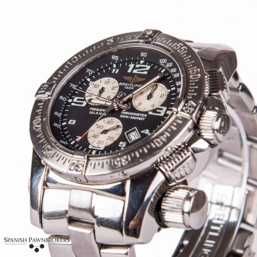 Second hand time piece Breitling Emergency Mission A73321 blue dial
