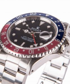 Second-hand-luxury-watch-Rolex-GMT-Master-steel-oyster-16700-Pepsi-Blue-Red