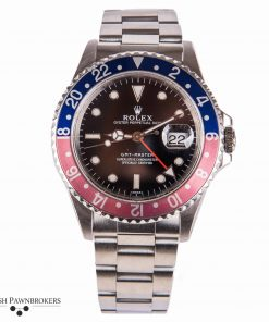 Second hand luxury watch Rolex GMT-Master steel oyster 16700 Pepsi Blue Red faded bezel 1997