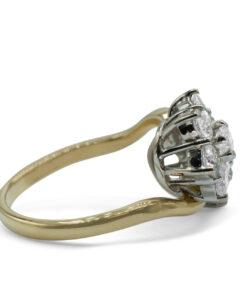 Diamond Cluster Ring - Anillo de flor de Diamante