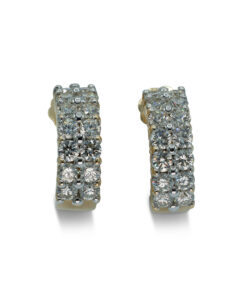 Alenda Golf | Alenda Golf PropertyDiamond Pierced Earrings 2 Rows of Diamonds | Pendientes de Diamantes