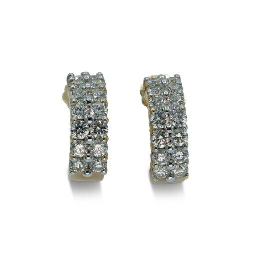 Alenda Golf   Alenda Golf PropertyDiamond Pierced Earrings 2 Rows of Diamonds   Pendientes de Diamantes