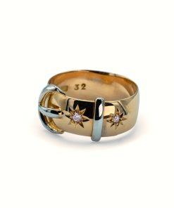 Vintage diamond buckle ring - Anillo de hebilla con Diamantes