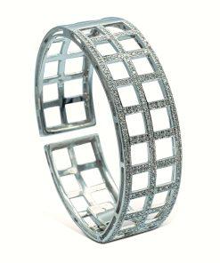Diamond hinged bangle - Brazalete con bisagra de diamantes