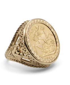 Gents Sovereign Ring – Anillo de caballero de soberano