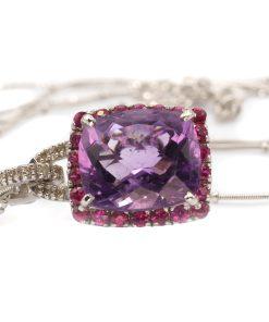 Amethyst Ruby & Diamond Necklace - Collar de Amatista, Rubi y Diamantes