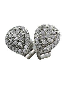 Diamond teardrop stud earrings - Pendientes de lagrima de Diamante con pasador