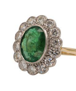 Vintage Emerald and Diamond Gold ring - Anillo de Esmeralda y diamantes Vintage de oro